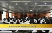 城关法院公开开庭审理段某等30人涉黑一案