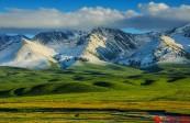 壮阔的空中草原 新疆新源县那拉提