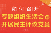 圖解黨建 第二批主題教育單位基層黨組織 如何召開專題組織生活會和開展民主評議黨員