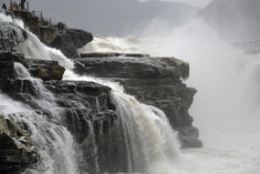 壺口瀑布冬日景觀亦壯美