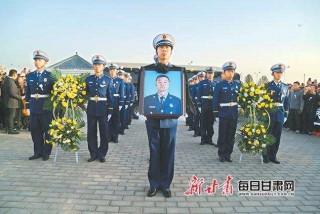 甘肅省舉行木里森林火災中英勇犧牲的甘肅籍烈士悼念活動 林鐸唐仁健敬獻花籃