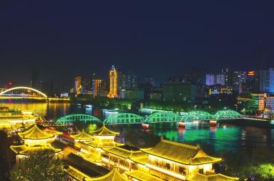 【蘭視頭條】九曲黃河映春色 鐵橋吐綠耀金城