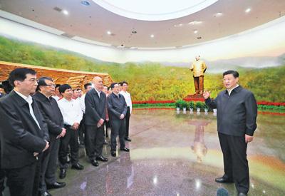不忘初心牢记使命锐意进取 满怀信心继续把新中国巩固好发展好