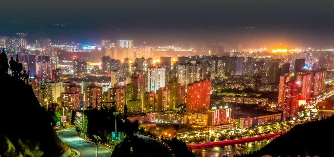 蘭州:夜色旖旎 華燈璀璨別樣景(組圖)