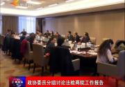 政协委员分组讨论法检两院工作报告